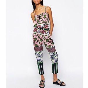 Clover Canyon Pants - Clover Canyon Multicolor Floral Jumpsuit Pants
